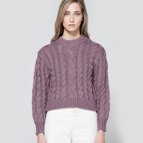 Braid Crop Sweater