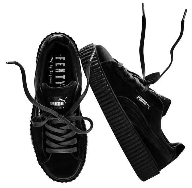 Fenty Puma by Rihanna Velvet Creeper in Black ($150)