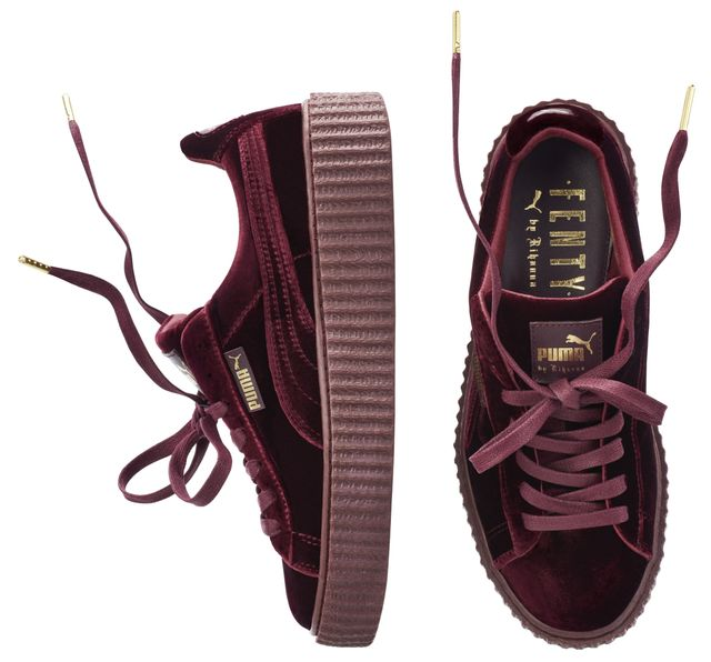 Fenty Puma by Rihanna Velvet Creeper in Burgundy ($150)