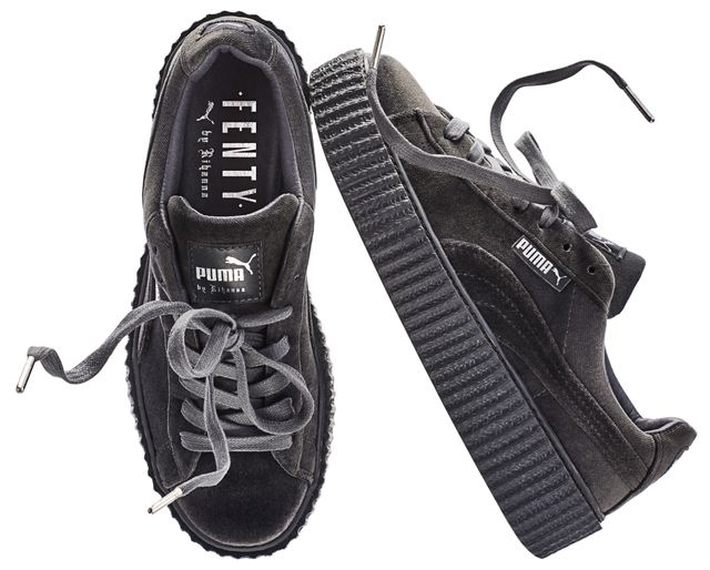 Fenty Puma by Rihanna Velvet Creeper in Cement ($150)