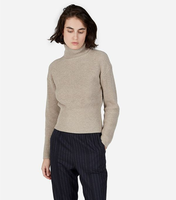 Everlane Ribbed Cashmere Turtleneck