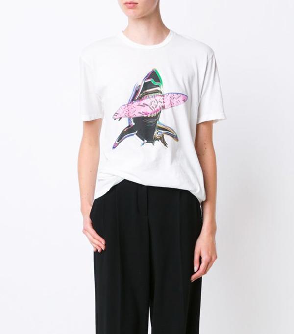 Baja East Shark Print T-Shirt
