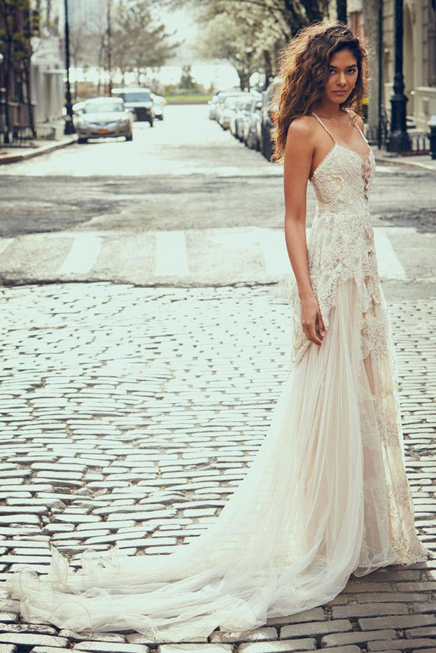 These pretty wedding dresses are a bohemian dream whowhatwear bohemian style wedding dress junglespirit Choice Image