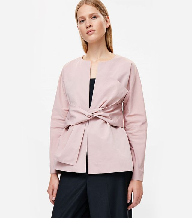 Cos Blazer With Tie Front