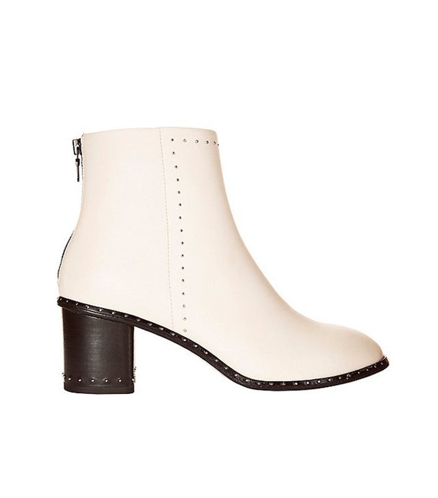 Rag & Bone Willow Studded Ivory Leather Bootie