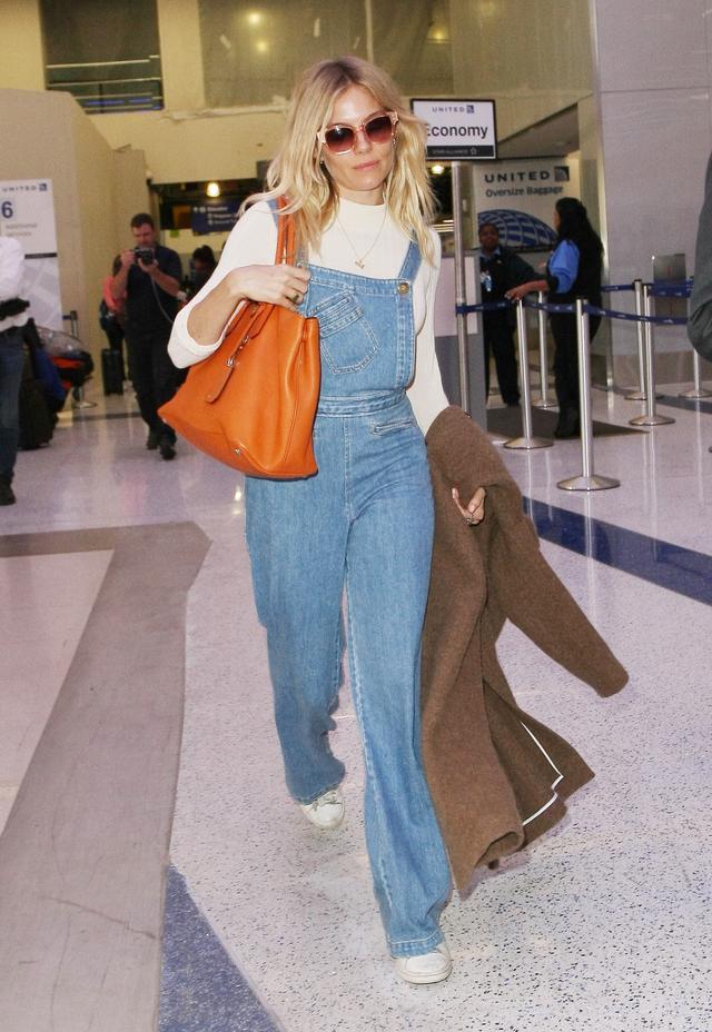 On Sienna Miller: Sea New York overalls.