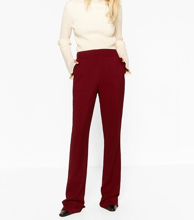 Zara Pocket Trousers With Frill