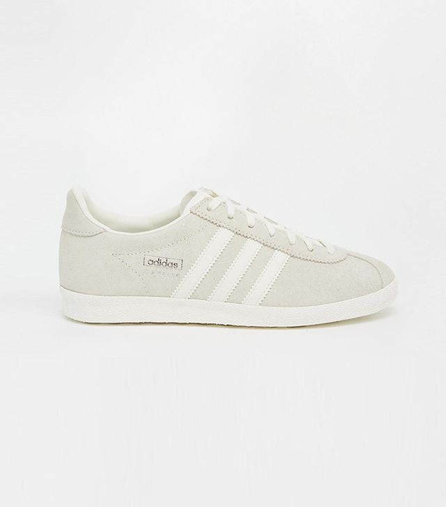 Adidas Originals Unisex Off White Suede Gazelle Sneakers