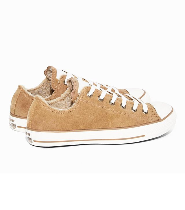 Converse Chuck Taylor All Star Suede and Faux Shearling Sneakers