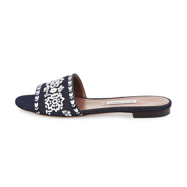 Tabitha Simmons Sprinkles Fest Embroidered Mule Sandal