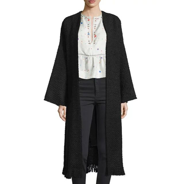 Isabel Marant Long Knit Open-Front Duster Coat