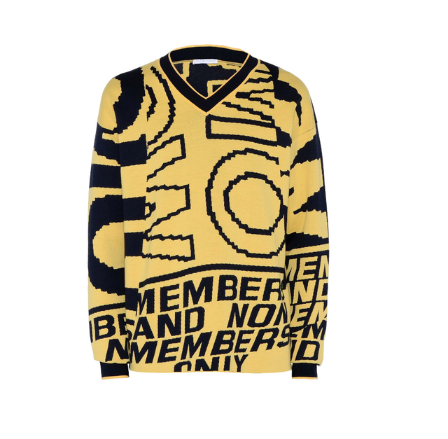 Stella McCartney Yellow Members Only Print Jumper