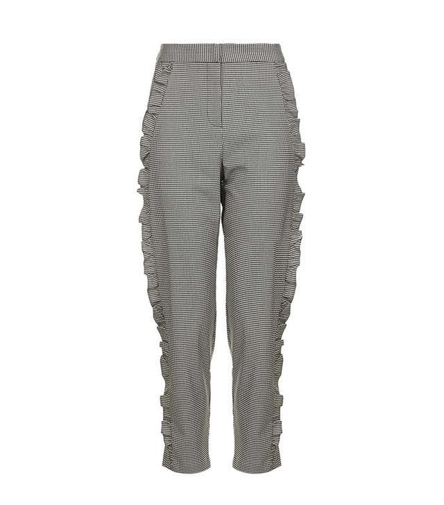 Topshop Frill Leg Trousers