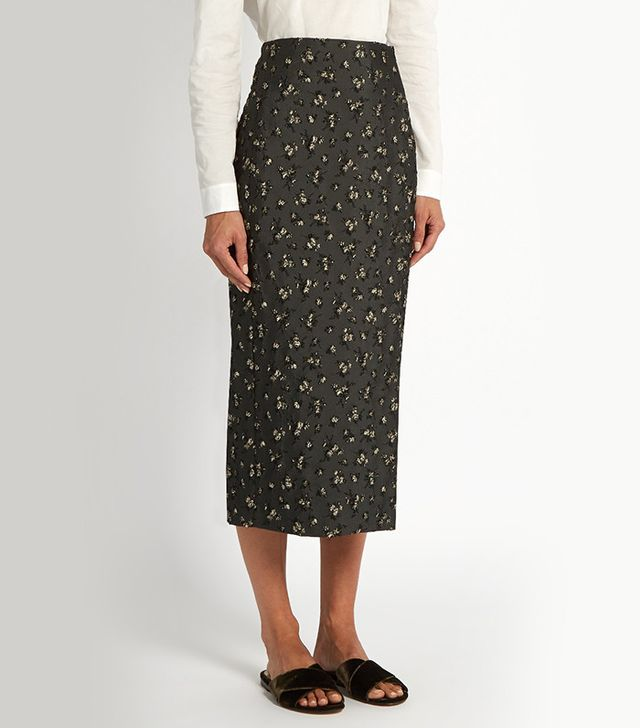 Brock Collection Floral Jacquard Pencil Skirt