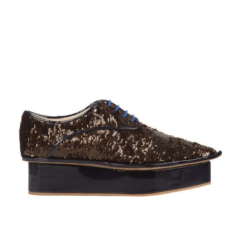 Sequin Flatform Derby Shoes