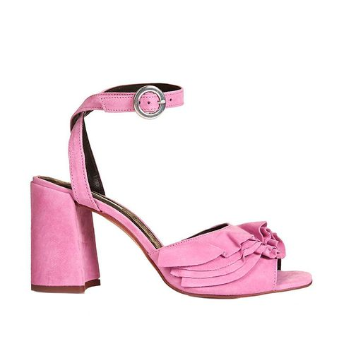 Suede Frill Sandals