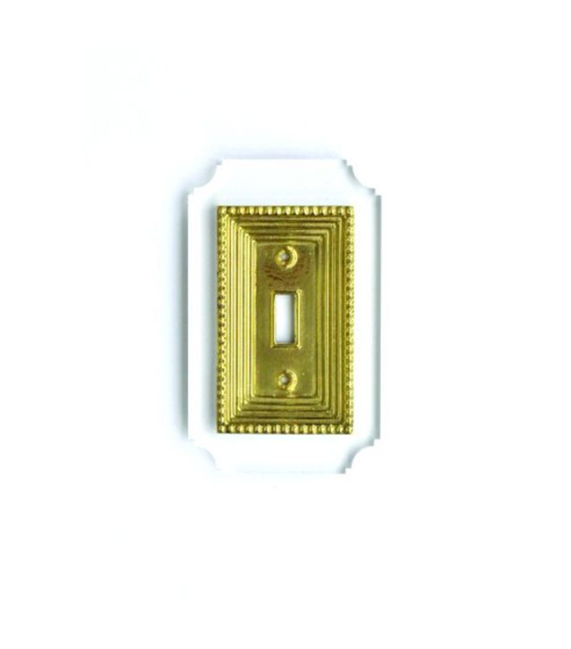 Reprotique Acrylic and Brass Georgian Switch Plate
