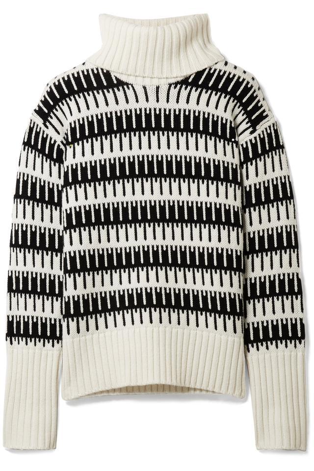 Wyndora Intarsia Wool And Cashmere-blend Turtleneck Sweater