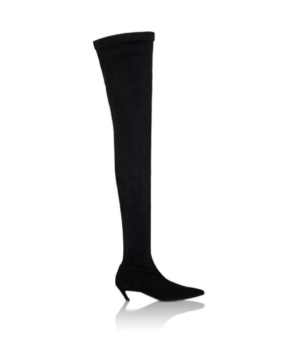 Women's Broken-Heel Suede Over-The-Knee Boots