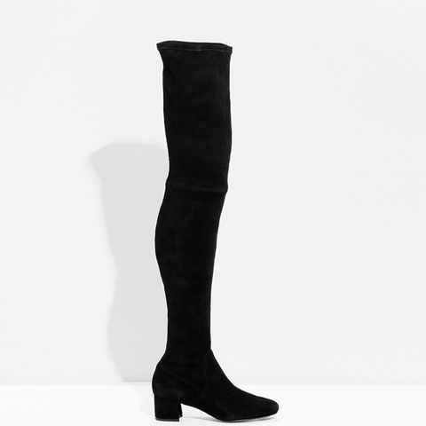 Suede Over-the-Knee Slim-Fit Boots