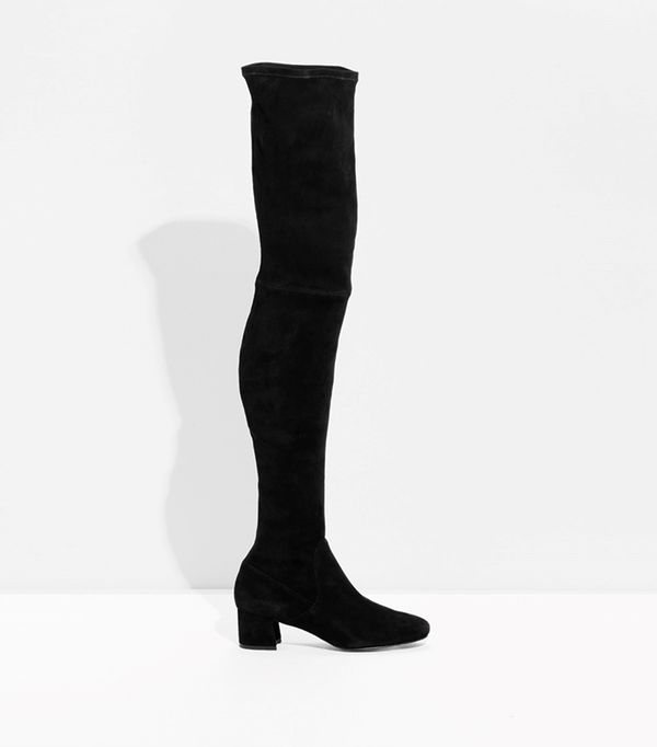 Suede Over The Knee Slim-Fit Boots