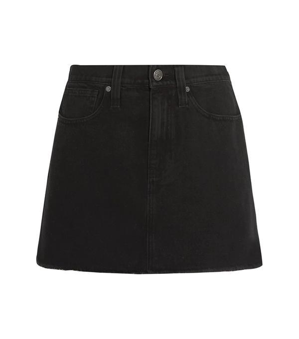Frayed Denim Mini Skirt