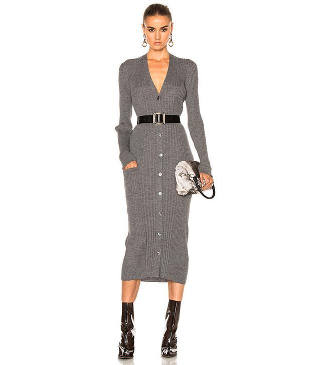 Maison Margiela Wool Cardigan Dress