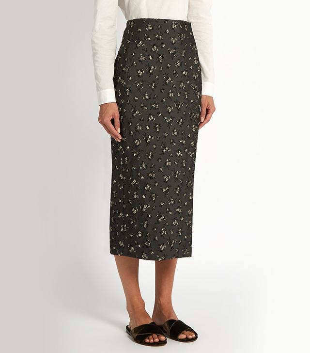 Brock Collection Floral Jacquard Pencil Skirt