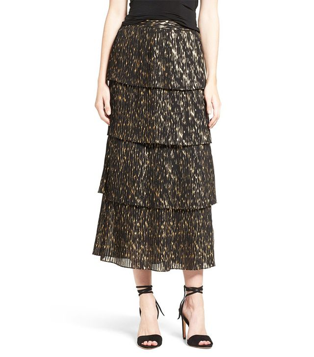Olivia Palermo + Chelsea28 Accordion Pleat Midi Skirt