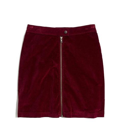 Studio Zip Skirt in Velvet