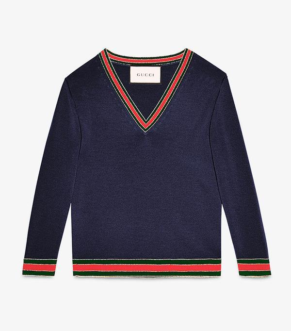 Gucci Merino Wool Knit Top