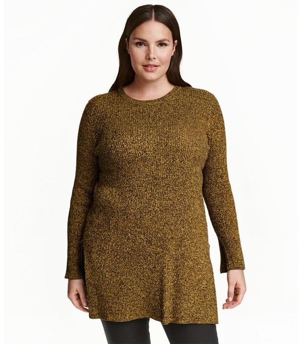 H&M+ Rib-Knit Sweater
