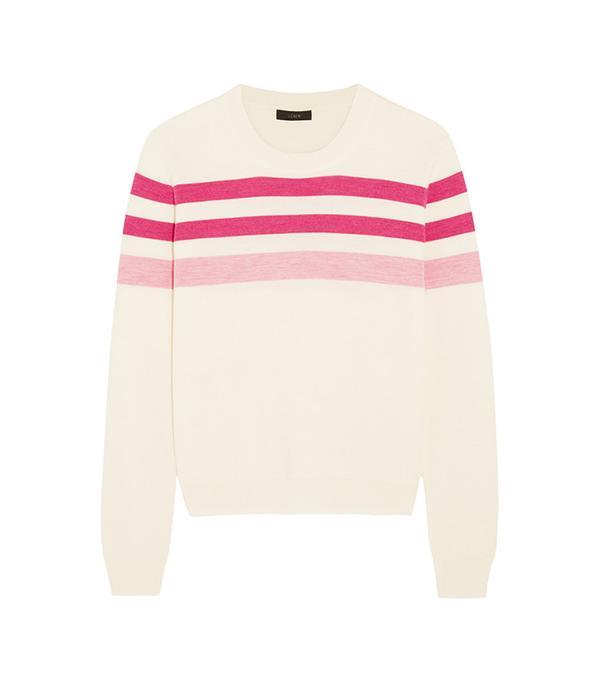 J.Crew Striped Merino Wool Sweater