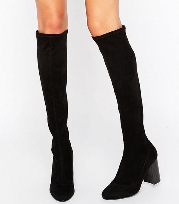 Faith Molly Sock Heeled Knee Boots