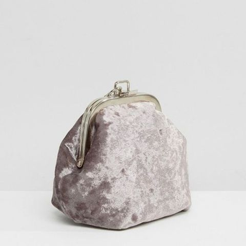 Chain Handle Velvet Clutch Bag