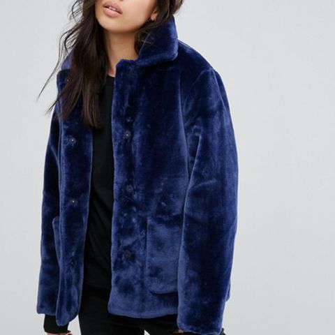 Velvet Jacket With Oversized Pockets