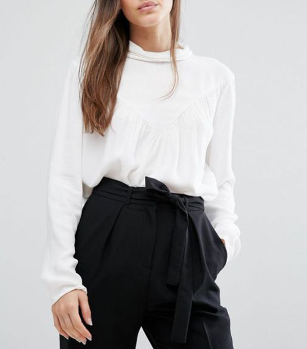 Selected Femme High Neck Blouse