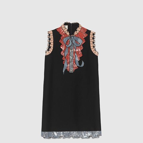 Silk Cotton Embroidered Dress