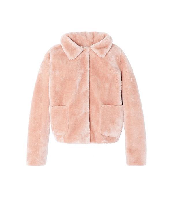Rebecca Taylor La Vie Faux Shearling Jacket