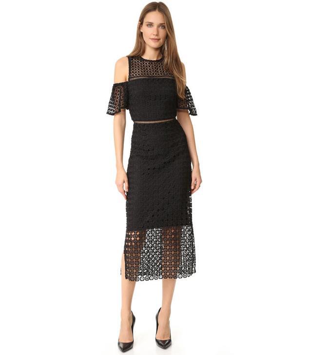 Cynthia Rowley Geo Cold Shoulder Dress