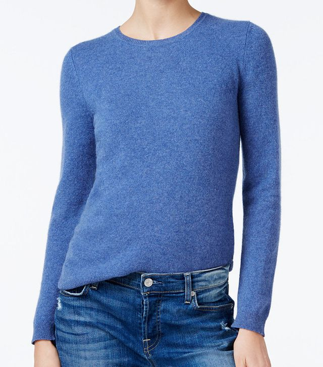 Charter Club Cashmere Crew-Neck Sweater