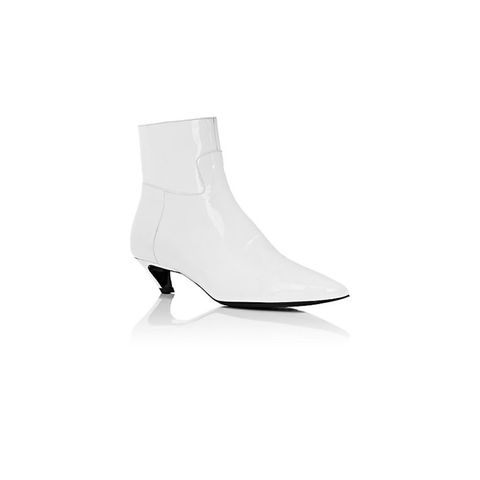 """Broken Heel"" Patent Leather Ankle Boots"