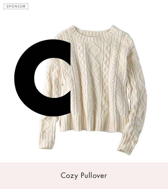 American Eagle Outfitters Cropped Cable Pullover