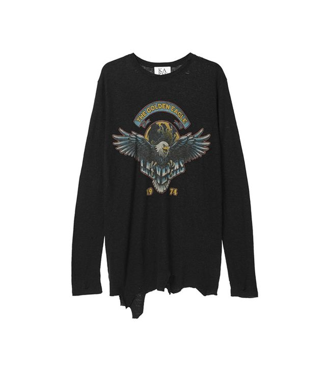 Zoe Karssen The Golden Eagle Ripped Loose Fit Long Sleeve
