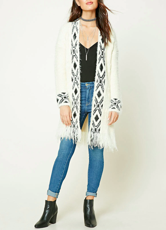 Forever 21 Tribal Print Cardigan
