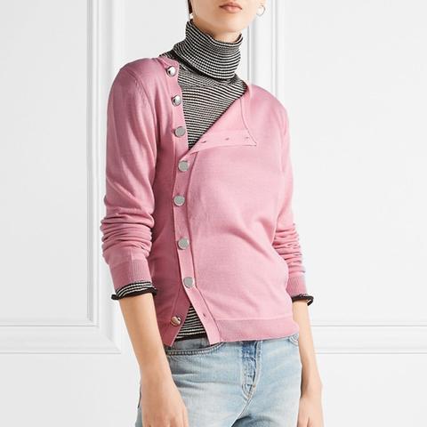 Minamoto Button-Detailed Merino Wool Sweater