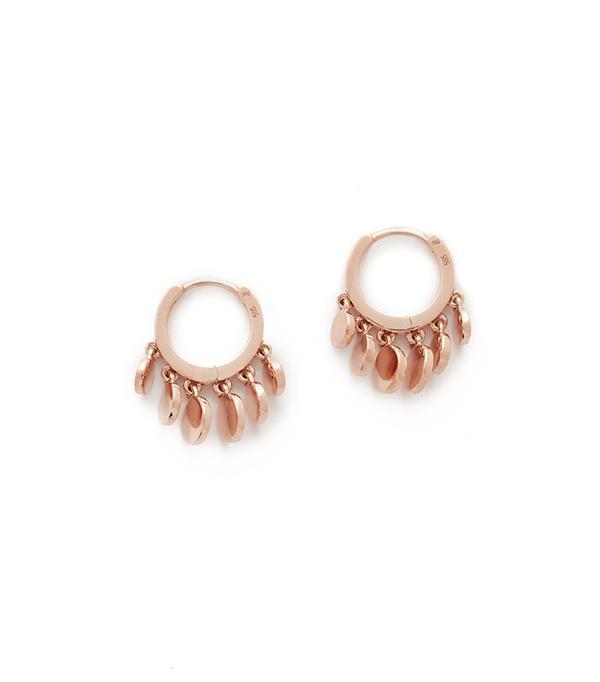 Jacquie Aiche Mini Disco Shaker Hoop Earrings
