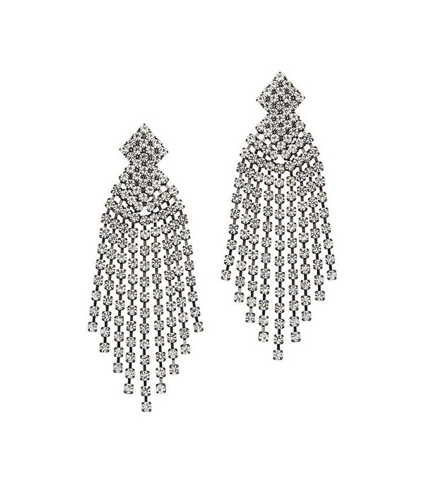 Kenneth Jay Lane Crystal Fringe Earrings
