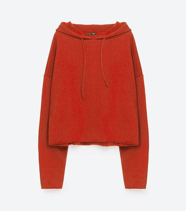 Zara Short Oversized Sweatshirt