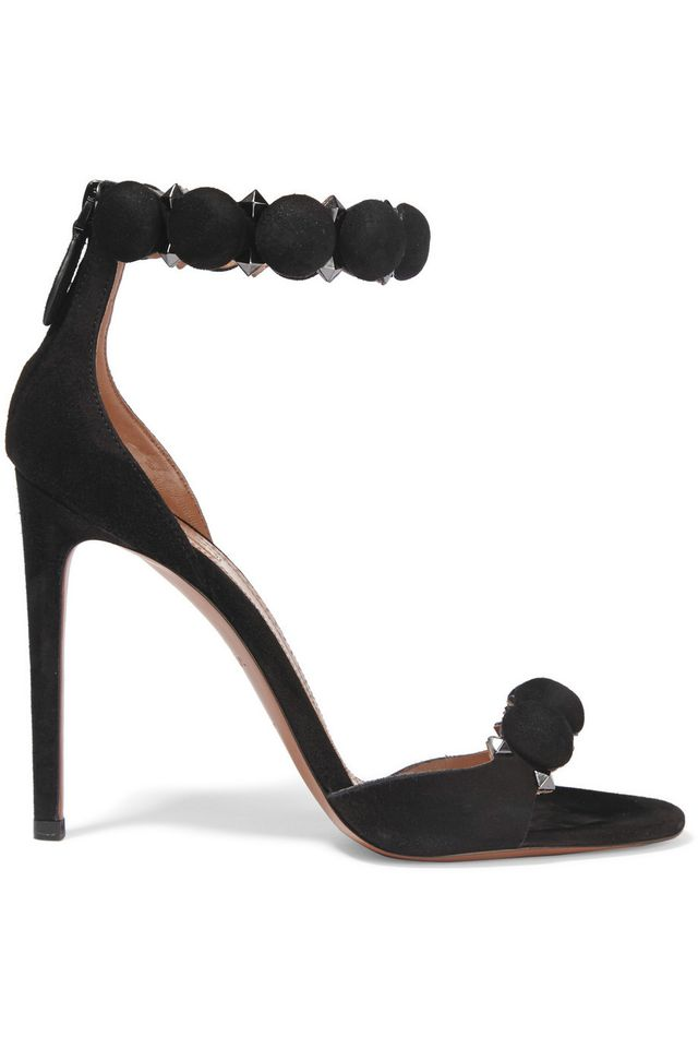 Alaïa Studded Suede Sandals
